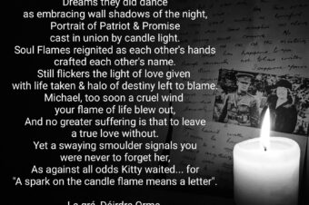 A Spark on the Candle means a Letter